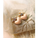 Earrings Heart with a crown K16