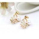 Earrings of cherries with a K12 pearl
