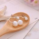 earrings behind the ear beads silver K73