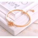 bracelet amber hoop crystal with rose BO2