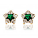 EARRINGS STAR EARRING K152SZM SZMARAGD