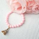 Großhandel Armbänder: Armband CHARMS Perlen mit Rose EIFF TOWER