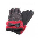 Großhandel Handschuhe: SCHÖNE HANDSCHUHE MIT SCHWARZEN HERZEN
