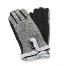 wholesale Gloves: GLOVES WITH FUR AND BUTTON: Size - XL