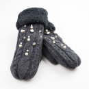 wholesale Gloves: GLOVES WITH GRAPHITE COLLAR