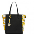 LARGE LEATHER BAG ITALIAN DIANA & CO. IN LEMON