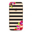 ETUI NA TELEFON Iphone 5 / 5S - FLOWERS AND STRIPE