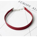 grossiste Chaines: COLLIER PERLE CHOKER - ROUGE N480CZE