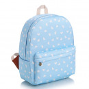 SCHOOL BACKPACK Blue in hearts High quality