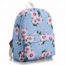 SCHOOL BACKPACK Flowers blue High quality
