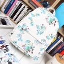 Großhandel Schulbedarf: SCHULE RUCKSACK Weiße Blumen Hohe Qualität