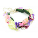 A wreath of delicate roses and hydrangeas W53