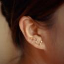 EARRINGS 7 STARS GOLDEN K617Z