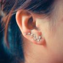 EARRINGS 7 STARS SILVER K617S
