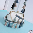BAG BAG FRONT BOHO FRINGLE CREAM T74K