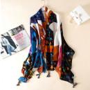 Großhandel Tücher & Schals: SIE WRAP Drucken Sie eine lebendige Farbe SZALS32