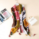wholesale Scarves & Shawls: SHE WRAP Print a vivid color SZALS33