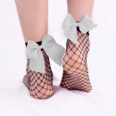 wholesale Stockings & Socks: Fishnet socks with an orange bow SKAR01S