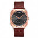 MALE WATCH TOMI RETRO GOLD ON BORDER BELT WITH