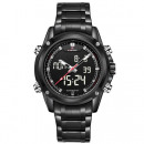 MEN'S NAVIFORCE WATCHES ON BRACELET, BLACK ZM1
