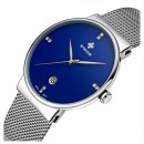 MEN'S WATCH BRACELET SLIM FASHION WWOOR BLUE