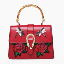 wholesale Handbags: WOMEN'S BAG RAGS AND RED FLOWERS