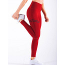 Sport Leggings Fitness Workout Red L LEG18