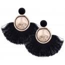 grossiste Boucles d'oreilles: Boucles d'oreilles pompons K760CZ