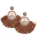 Großhandel Schmuck & Uhren:Ohrringe Pompons K760KAR