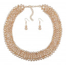NECKLACE PLUS NECKLACE CRYSTAL GOLD EARRINGS N590Z