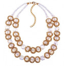 NECKLACE WITH CRYSTAL WHITE N593B