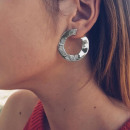 EARRINGS BOHO WHEELS SILVER K826S