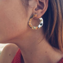 BOHO EARRINGS KOŁA ZŁOTE K826Z