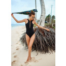 wholesale Swimwear: BATH SLEEVE BLACK SIZE L STR10L