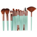 SET 18 BRUSHES MAKEUP MINT PZ18M