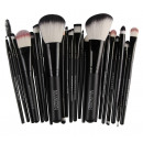 SET OF 22 BLACK AND WHITE MAKEUP BRUSHES PZ20CZ