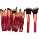 SET OF 22 RED MAKE-UP MAKEUP BRUSHES
