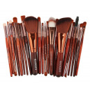 SET OF 22 BROWN MAKEUP BRUSHES PZ20BR