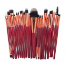SET OF 20 RED MAKE-UP MAKE-UP BRUSHES