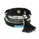 BRACELET WITH WINGS AND BLACK WHEEL