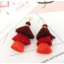 wholesale Earrings: RED HALF EARRINGS. K866CZE