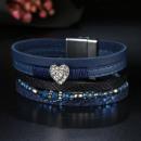 wholesale Bracelets: B226GRAN BLUE CAVI BRACELET