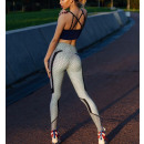 Sports Leggings Fitness Training GRAY L LEG36L
