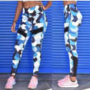 Sport Leggings Fitness Workout BŁĘKIT L LEG37L