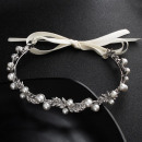 PEARLS & CRYSTALS HAIR TIE FOR DIADEM O133