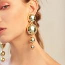 Großhandel Ohrringe: OHRRINGE, die Gold XXL K962 hängen
