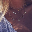 wholesale Necklaces: NIGHT STARS MULTI NECK STARS N641