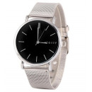 Women's silver watch with black dial Z38CZ