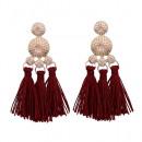 Earrings burgundy K991BOR