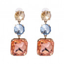 Earrings hanging colorful crystals K997